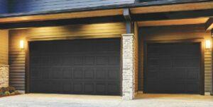 dark panels garage doors